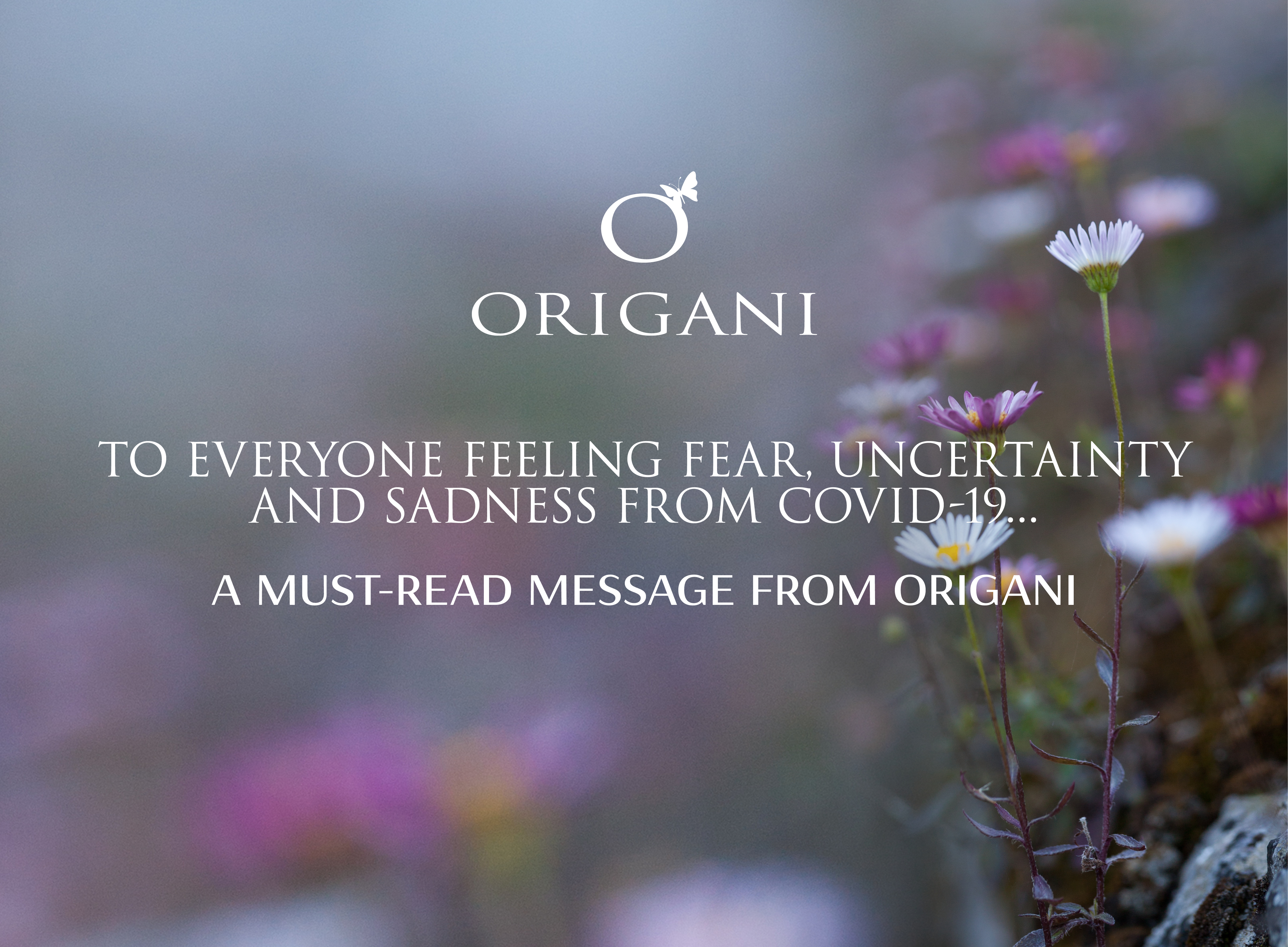COVID-19...A Must-read Message from Origani